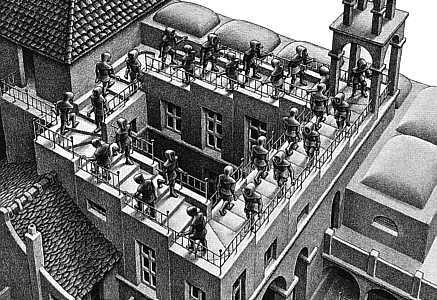 Animation of MC Escher's Relativity - YouTube
